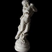 Antique c1890s Parian Porcelain Figurine Morning Dew, Robinson Leadbeater