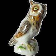 Vintage Meissen Great Horned Owl Figurine