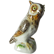 Vintage Meissen Great Horned Owl Figurine