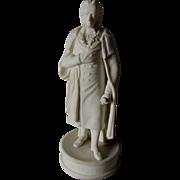Antique Parian Porcelain Figurine of Johann Christoph Friedrich von Schiller