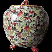 Antique Asian, Japanese 1,000 Faces Biscuit Barrel, Cracker Jar