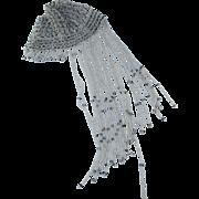 Elegant Art Deco Beaded Juliette Hat, Flapper, Gatsby