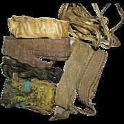 7 Different Metallic Lace Trimmings, Vestment, Ecclesiastical