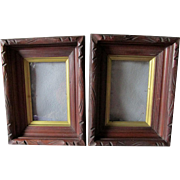 Matching Pair Antique c1870-1880s Deep Walnut Picture Frames