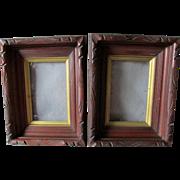Matching Pair Antique c1870-1880s Deep Walnut Picture Frames