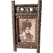 Antique c1880s Victorian, Aesthetic Movement Picture Frame