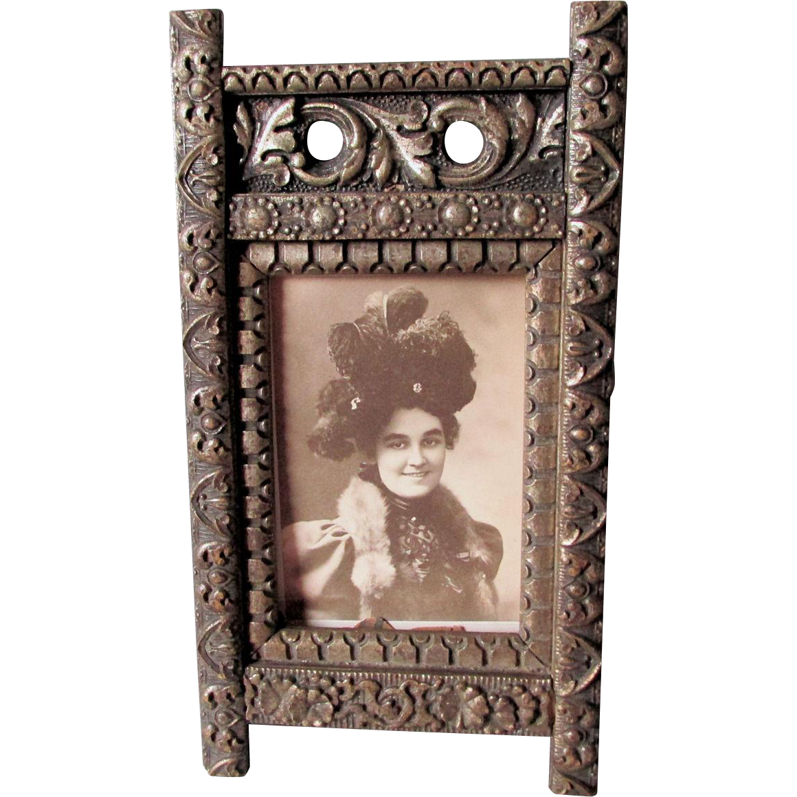 Antique C1880s Victorian Aesthetic Movement Picture Frame