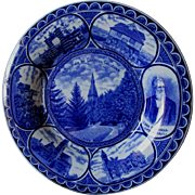 Cornell College University, Souvenir Flow Blue Plate, Rowland & Marsellus