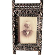 Antique c1880s Victorian, Aesthetic Movement Picture Frame, Silver Gilt