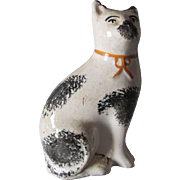 Antique 19thC Staffordshire Cat Figurine, Country, Primitive Cat