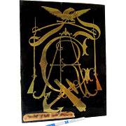 Antique GAR, Grand Army of the Republic Reverse Painting on Glass