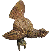 Antique Bronze Pheasant Bird, Decoration, Architectural Element
