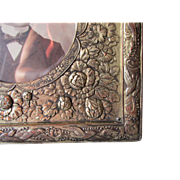 Antique Asian Picture Frame with Birds and Flowers