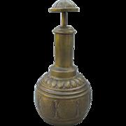 Antique WMF Arts & Crafts Hand Hammered Brass Cigar Cutter, Signed