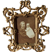 Antique Victorian, Edwardian Picture Frame, Cast Iron Mirror Frame