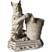 Whimsical c1900 Match Safe, Fox or Dog in Waist Coat