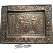 Antique 19thC European Plaque, Mythological Scene, Pre Raphaelite
