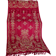Lovely Antique c1880s Victorian Tapestry Portiere Drape, Curtain Panel