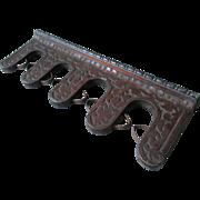 Antique Cast Iron Gun Rack, Tool Holder, Spring Loaded Storage Bracket