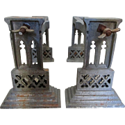 Pair Antique Gothic Stands, Shelf Brackets from Church, Architectural