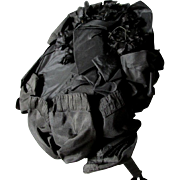 Beautiful Antique c1880s Victorian Black Silk Ladies Bonnet, Good Condition