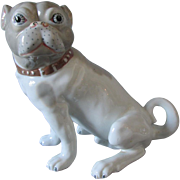 First Edition, Seymour Mann Museo,  Pug Dog Figurine, 1974 Signed