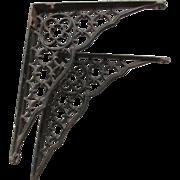 Antique Victorian Gothic Cast Iron Architectural Brackets