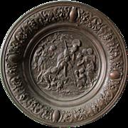 Antique Ilsenburg, German Plaque, Mythology with Nudes & Satyr