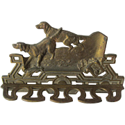 Antique Pipe Holder with Golden Retriever Hunting Dogs, Pipe Rack