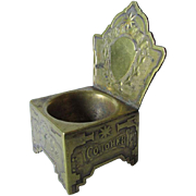 Antique Russian Empire Miniature Bronze Chair, Signed