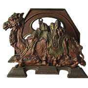 Antique Cast Iron Egyptian Revival, Camel Letter Holder