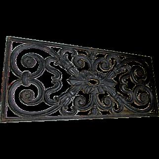 Antique Architectural Cast Iron Decorative Grate, Garden Accessory