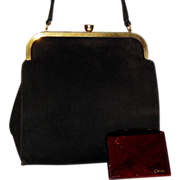 1940's Coblentz Suede Evening Bag