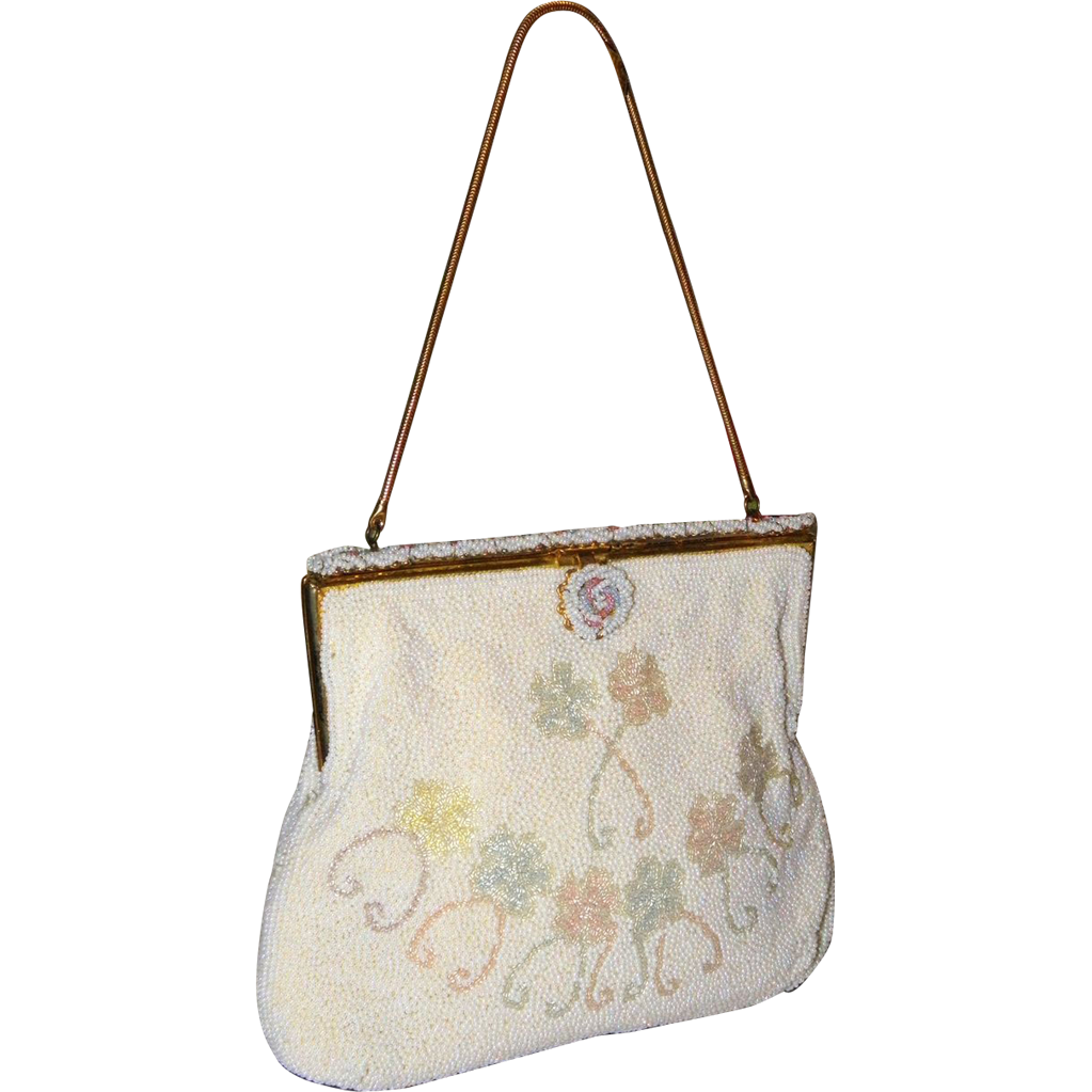 1940's Walborg Beaded Evening Bag from Belgium