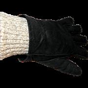 Vintage Coach Ladies Two-piece Calfskin Gloves