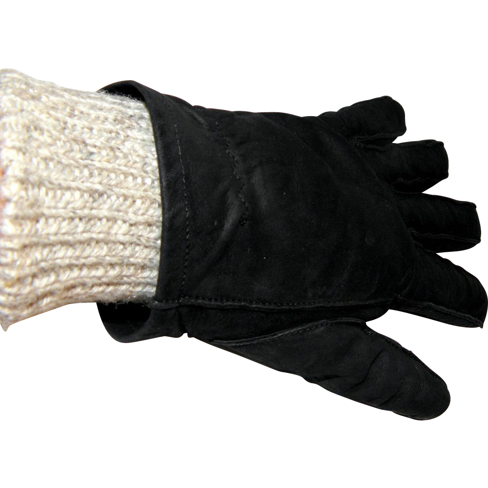 Vintage Coach Ladies Two-piece Calfskin Gloves