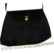 Vintage Salvatore Ferragamo Calfskin Suede Evening Bag from Italy