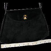 Vintage Salvatore Ferragamo Calfskin Suede Evening Bag from Italy