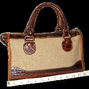 Vintage Brahmin Tuscan Croco Satchel Original U.S. Model