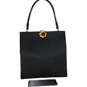 1950's Bag by Prestige Silk Framed Evening Bag