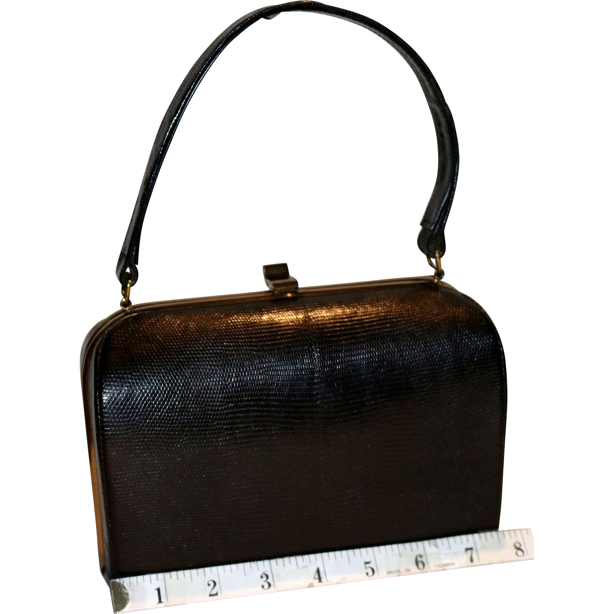 1950's Monitor Lizard Framed Box Satchel ExactMatch by Harry Revits.