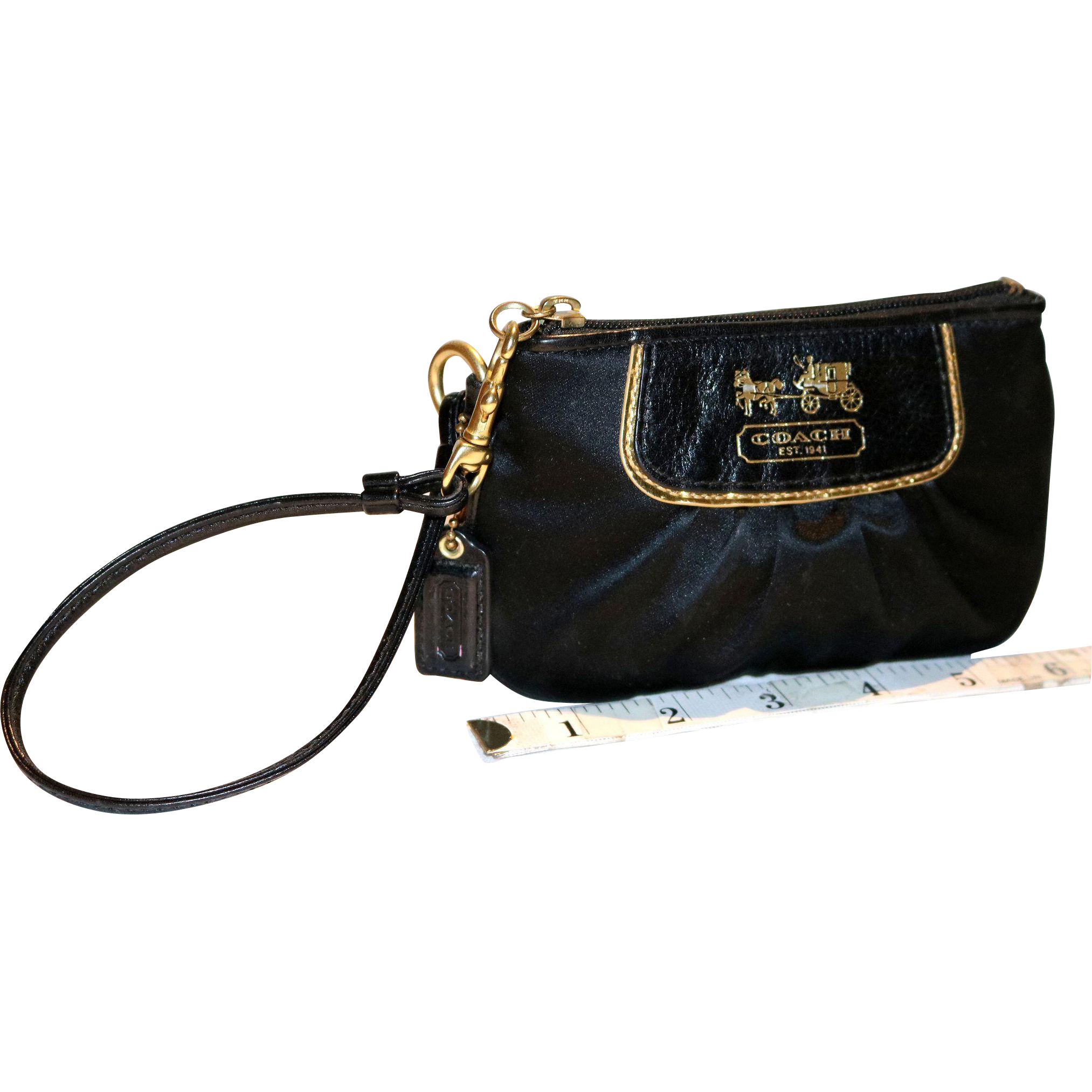 Vintage Coach Pleated Wristlet from the Madison Collection