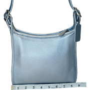 Vintage Coach Small Legacy Hobo in Metallic Seafoam