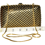 Judith Leiber Ribbed Minaudiere