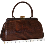 1950's Bellestone Lizard Satchel