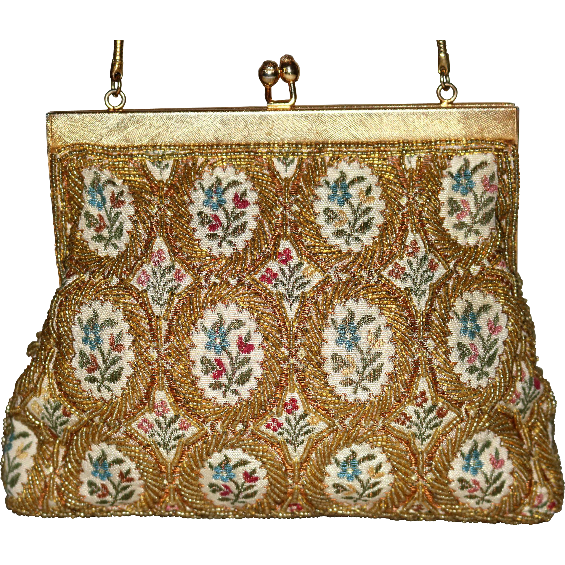 1950's Walborg Beaded Tapestry Evening Bag