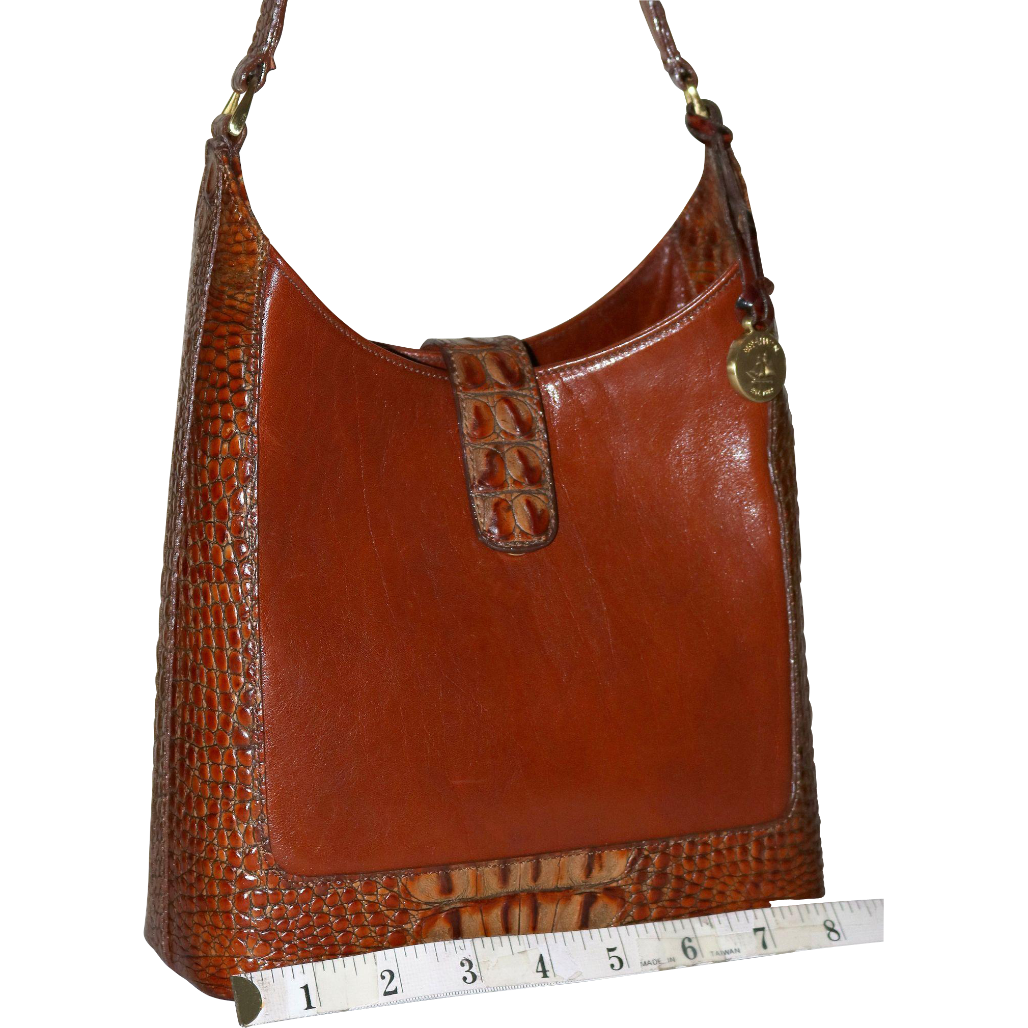 Vintage Brahmin Brulee Pecan Tote