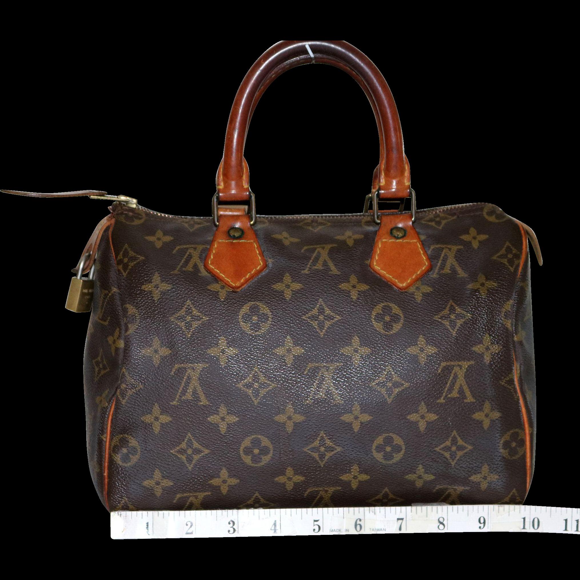 Vintage Louis Vuitton Monogrammed Speedy 25
