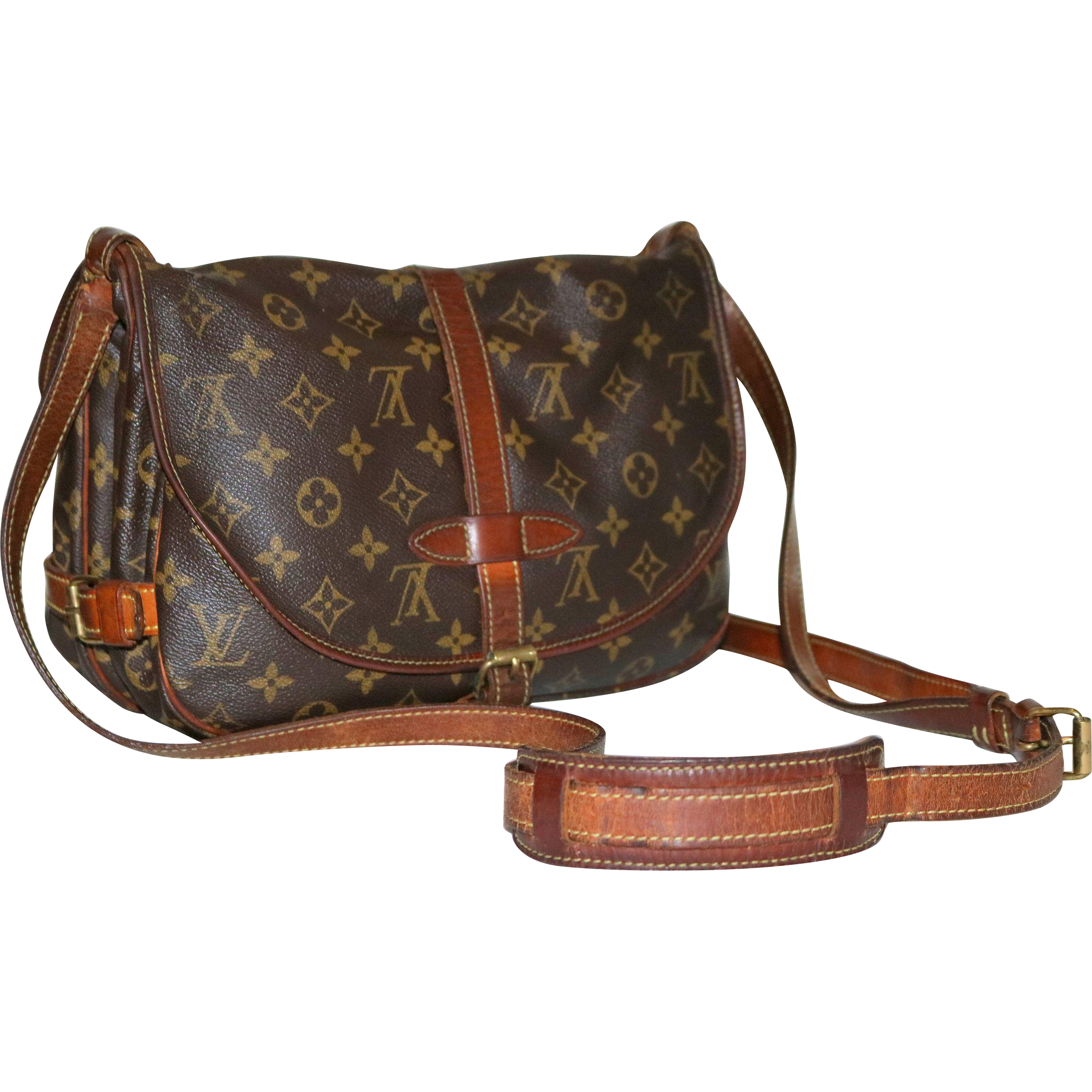 Vintage Louis Vuitton Samur 35 from France