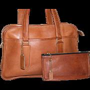 Vintage 1970's Coach Skinny Flight Bag with Skinny Wallet